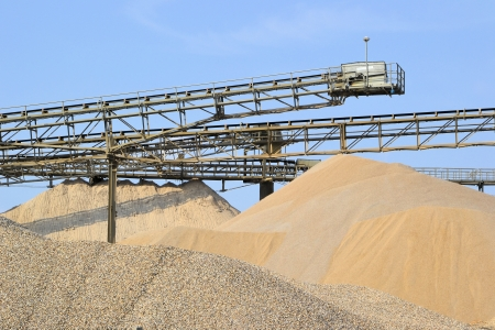 aggregates: Sand and gravel in a gravel pit