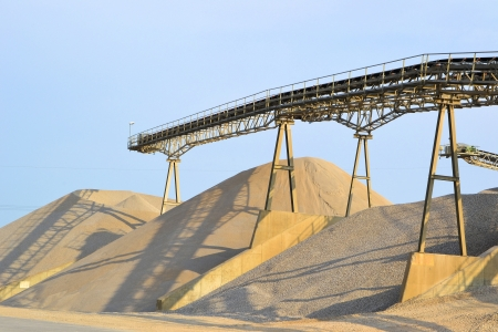 Sand and gravel in a gravel pit