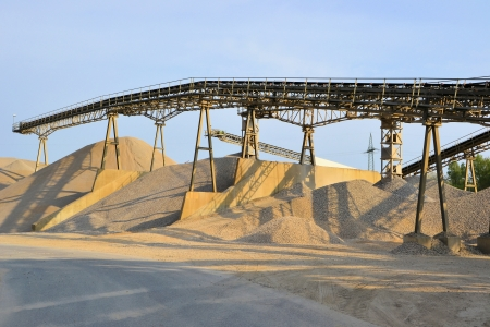 Sand und Kies in einer Kiesgrube Lizenzfreie Bilder