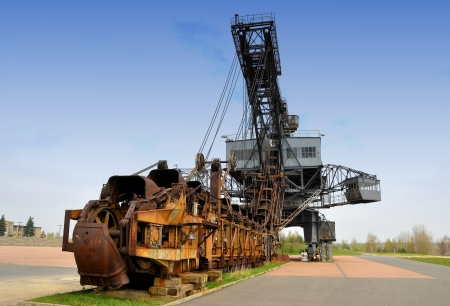 an old brown coal digger