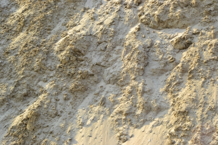 gravel pit: a mountain of Sand in a gravel pit Stock Photo