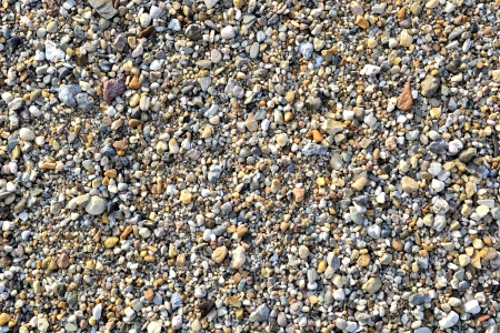 gravel pit: a mountain of gravel in a gravel pit