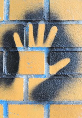 a handprint as a graffiti Stock Photo - 20888627