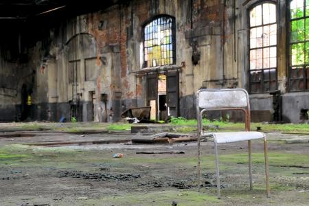 entlassen: Eine stillgelegte Fabrik in Magdeburg Stock Photo