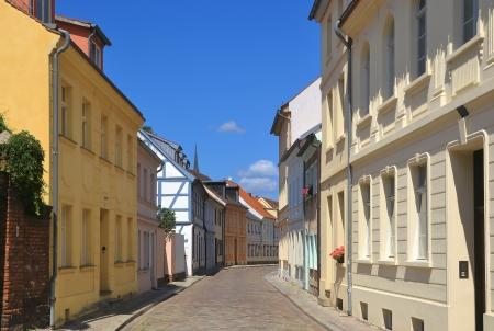 empedrado: Calle en Brandenburgo