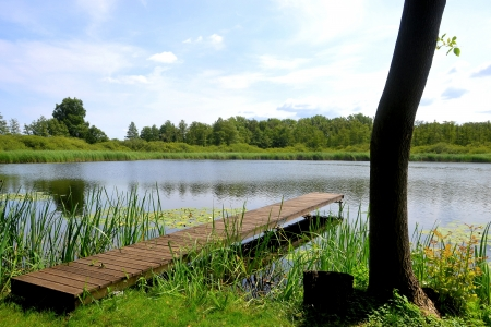 recuperate: Idyllic location beside a lake in Brandenburg
