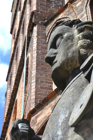 proceedings: Roland statue in the old town of Brandenburg