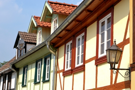Half-timbered house in Quedlinburg photo