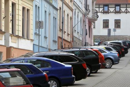 parking facilities: coches aparcados