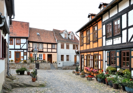 Half-timbered houses in Quedlinburg photo