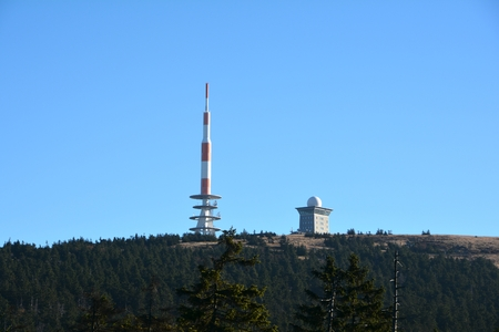 brocken: Transmission tower on the summit of the Brocken