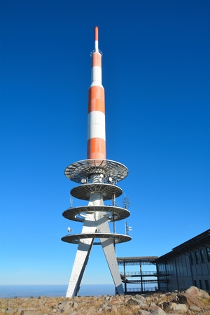 Transmission tower on the summit of the Brocken
