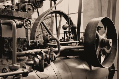 蒸気エンジン 写真素材
