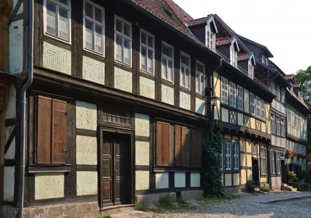 half timbered: Half-timbered houses in Quedlinburg