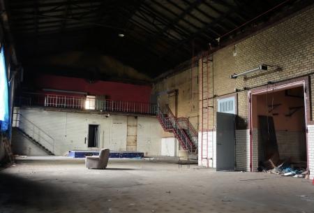 in einer verlassenen Fabrik Stockfoto