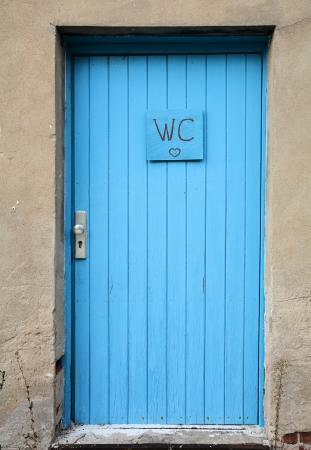 toilet door: toilet door