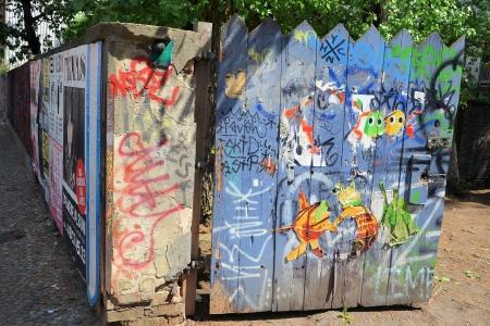 daubed: painted doorway in Berlin