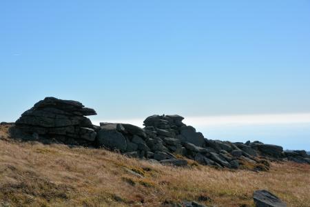 brocken: Rock on the summit of the Brocken Stock Photo