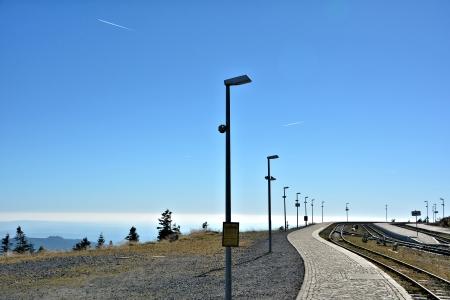 brocken: eine Station auf dem Gipfel des Brocken Stock Photo