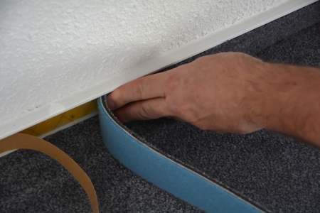 a floor fitters at work photo
