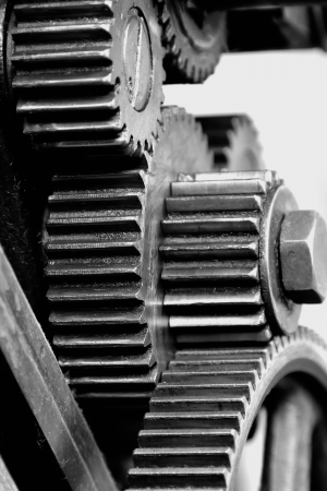 Gears of a machine photo