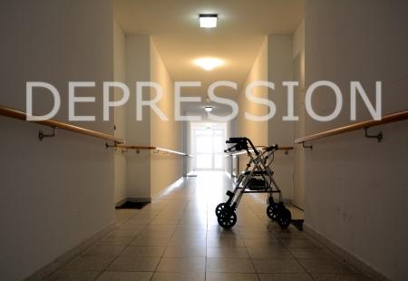 Een gang in een verpleeghuis Stockfoto