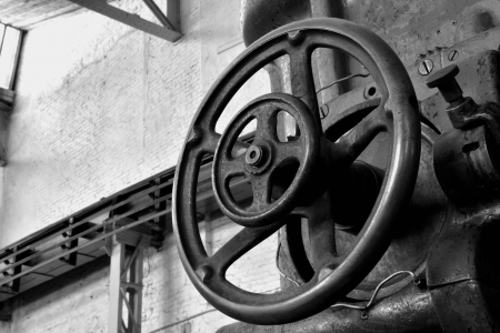 deprecated: Detail of a machine in a factory
