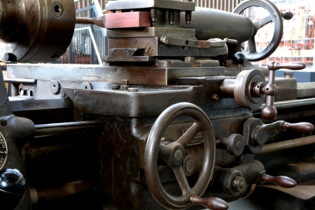 deprecated: Detail of a lathe
