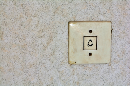 electricity tariff: Light switch in an abandoned house