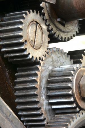 Gears of einer alten Maschine Standard-Bild - 24138112
