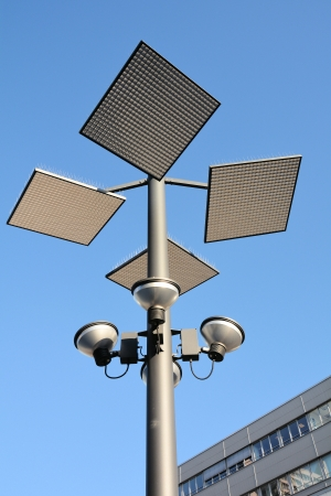 conduction: a modern street lamp in Hannover