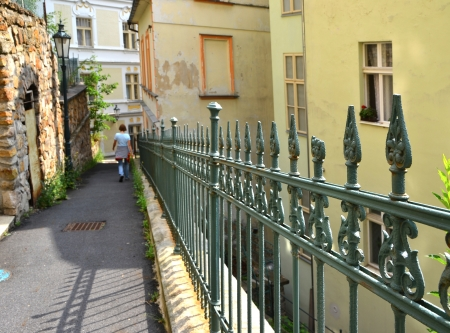 insurmountable: Fence in the old town of Karlovy Vary