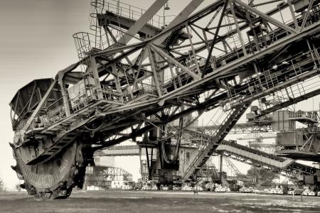 conveyor rail: Coal excavator in Ferropolis