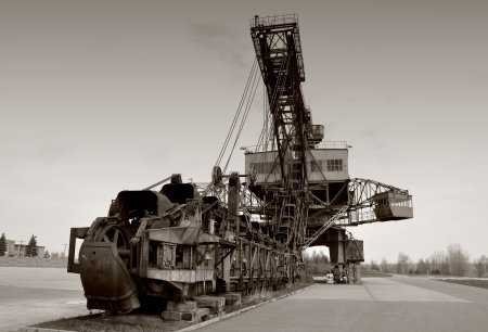 conveyor rail: Coal excavator in Ferropolis