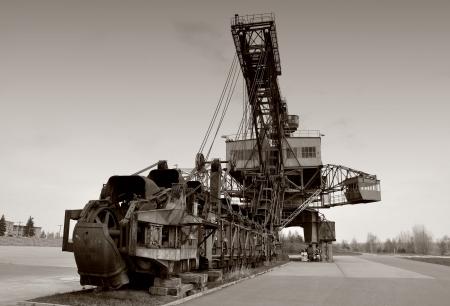 overburden: Coal excavator in Ferropolis