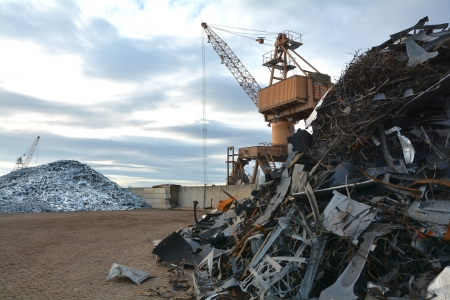 metal scrap: scrapyard