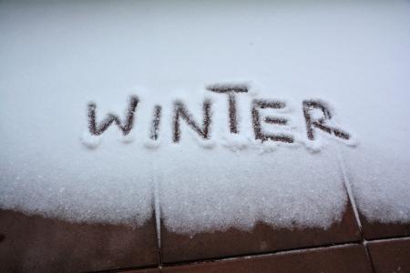 Winter word on snow photo