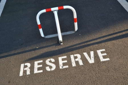 Reserve parking slot Stock Photo