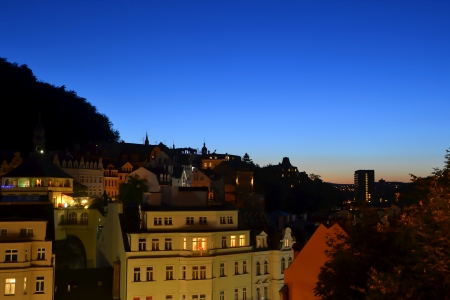 karlovy: Karlovy Vary town in Czech Republic Stock Photo