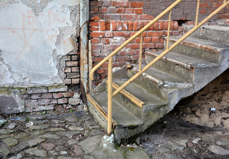 concluded: Old Staircase  Stock Photo