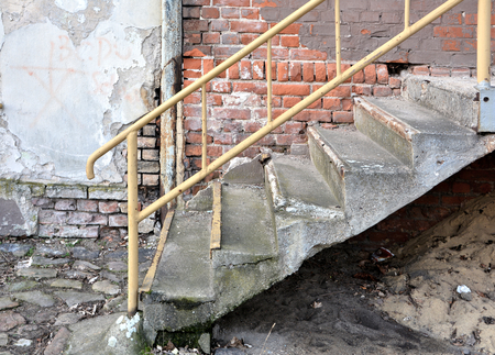 banister: Old Staircase Stock Photo