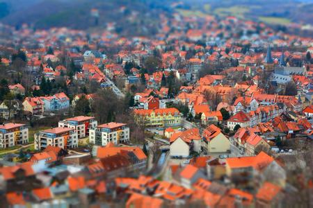 bird 's eye view: Cityscape of Wernigerode