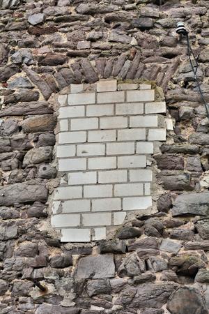 walled: Bricked-up window Stock Photo