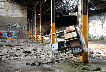 shut down: abandoned factory