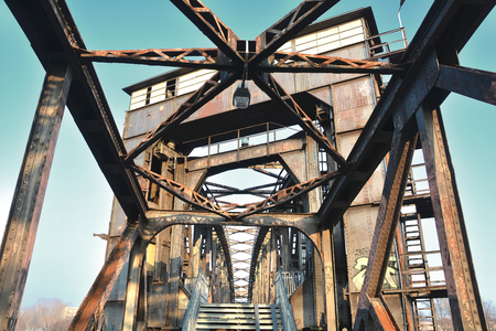 Lift bridge in Magdeburg
