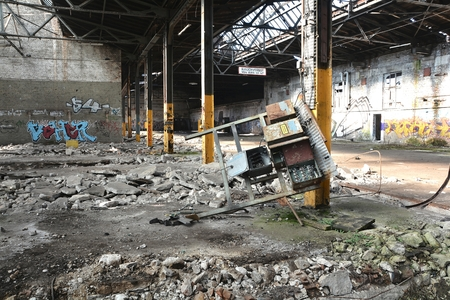 disused: in a disused factory in Magdeburg