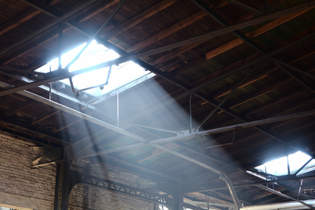 company premises: Windows in the roof of a disused factory