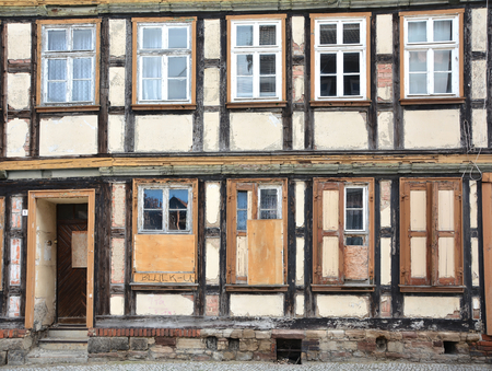 historic half-timbered house in Wernigerode Editorial