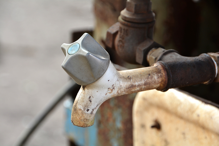 company premises: Faucet in a disused factory