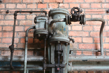 company premises: old technology in a disused factory